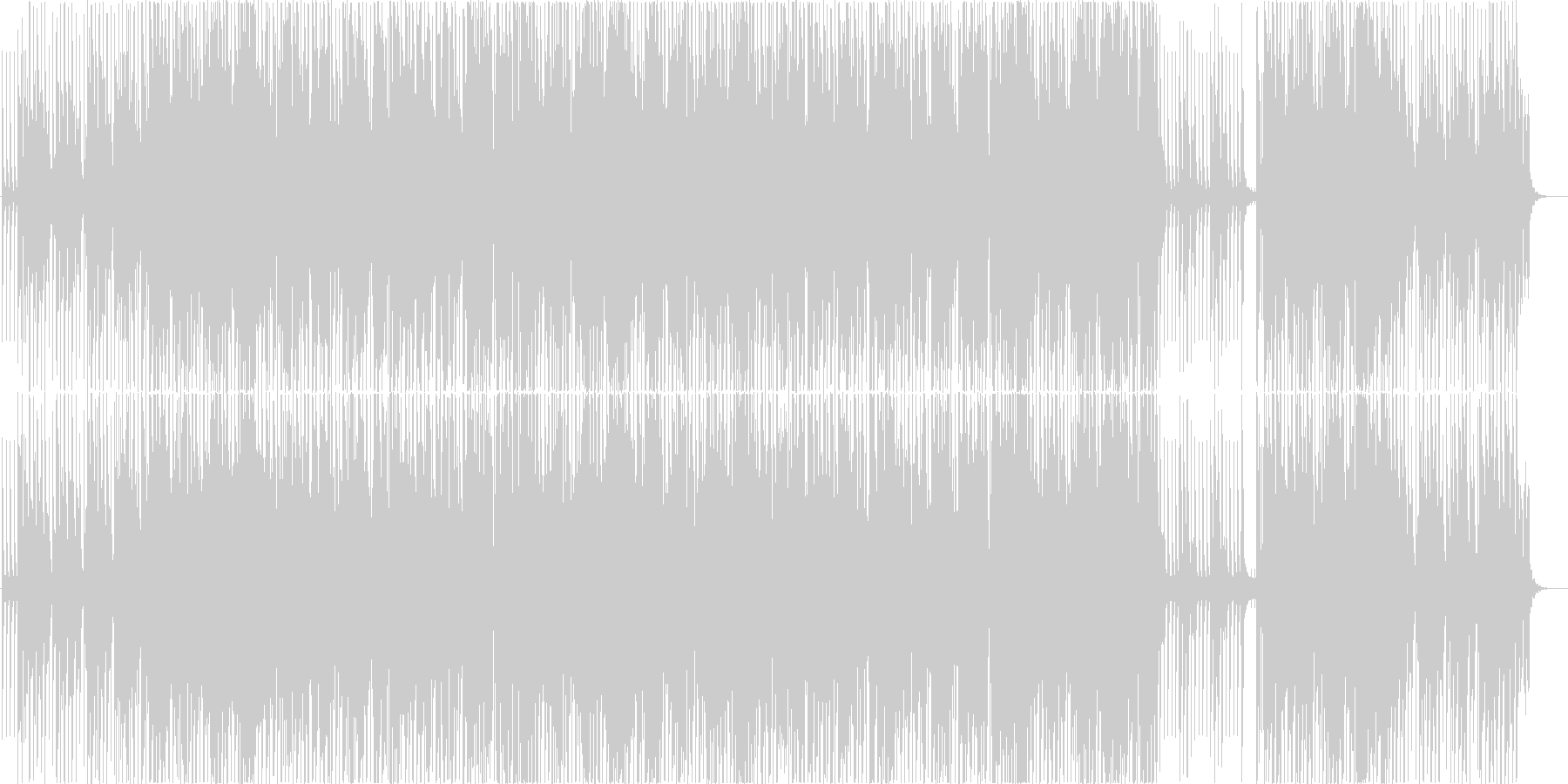 Vaporwaveポップ 夏の恋の終わりの未再生の波形