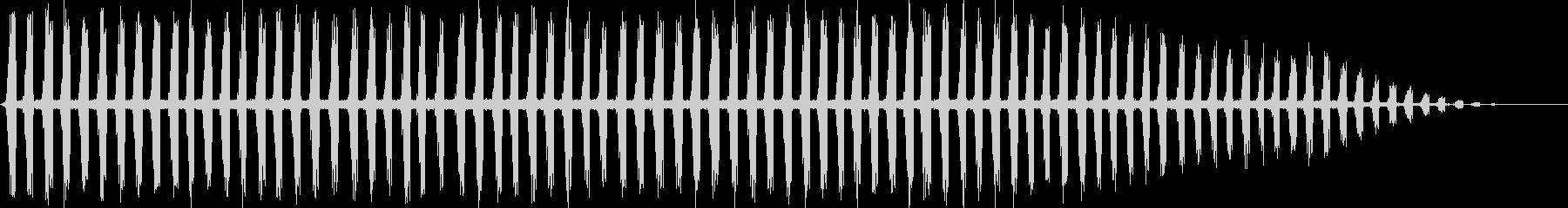 秋を思わせる虫の声をメインにした自然音の未再生の波形