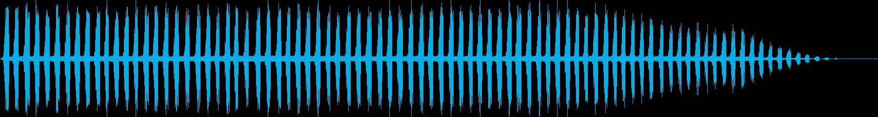 秋を思わせる虫の声をメインにした自然音の再生済みの波形