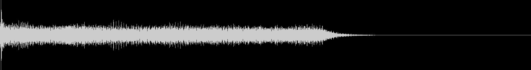 ガーンというピアノの音の未再生の波形