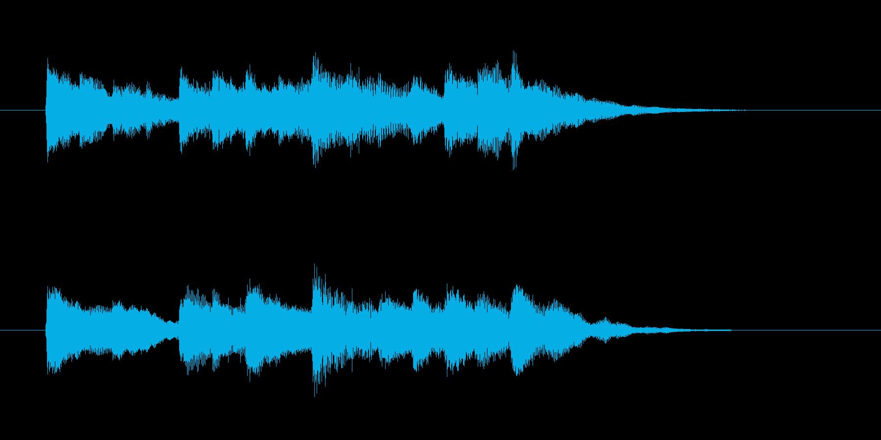 かわいいキラキラしたベルの短めの曲の再生済みの波形