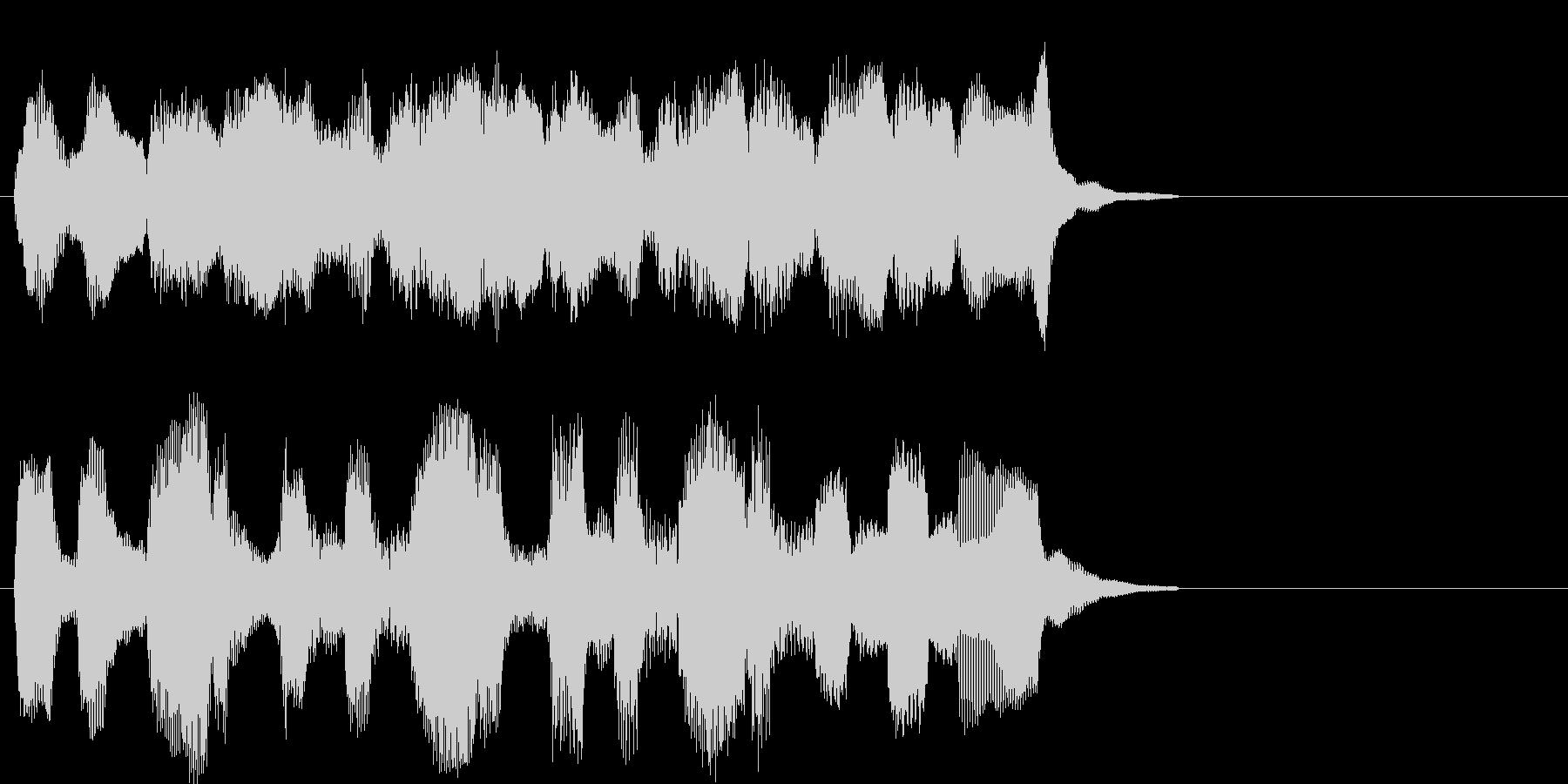 牧歌的で落ち着くパイプオルガン曲の未再生の波形
