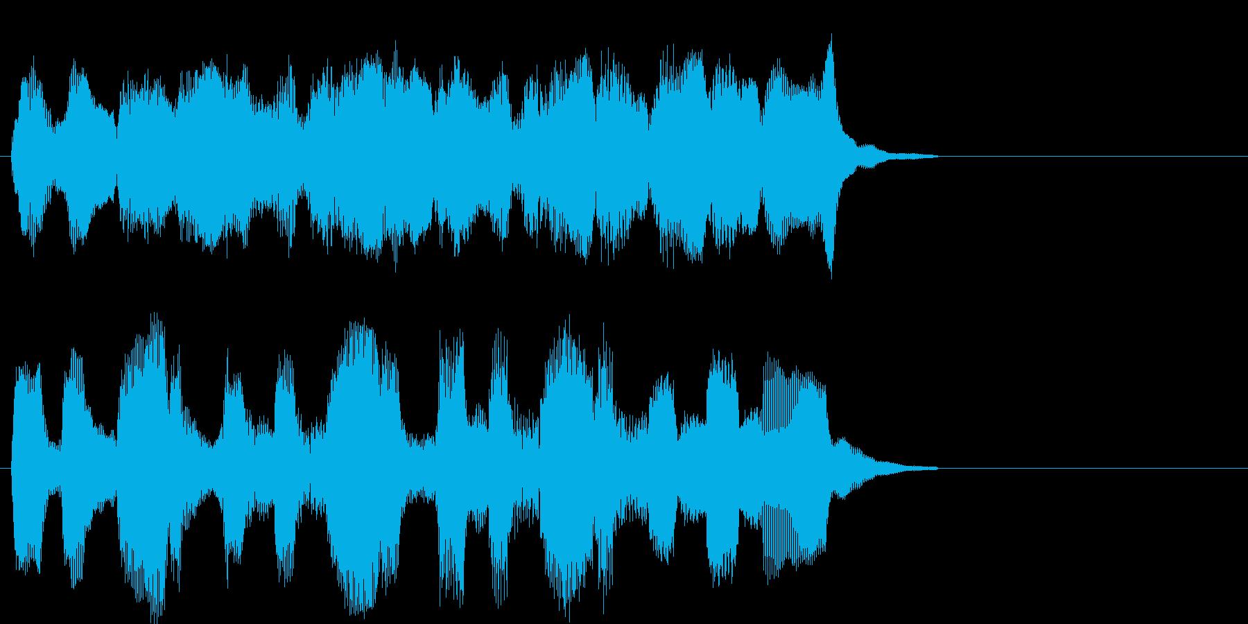 牧歌的で落ち着くパイプオルガン曲の再生済みの波形