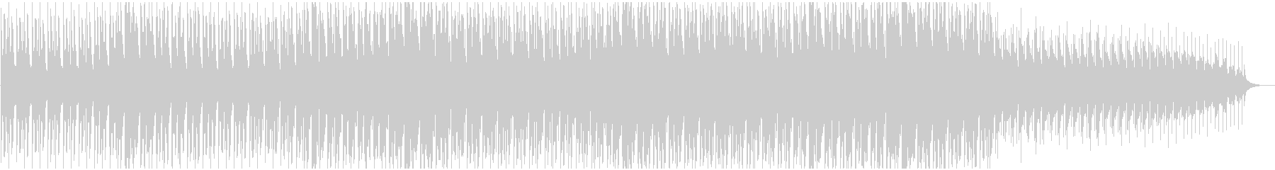 ニュース背後で流れるようなミニマルBGMの未再生の波形