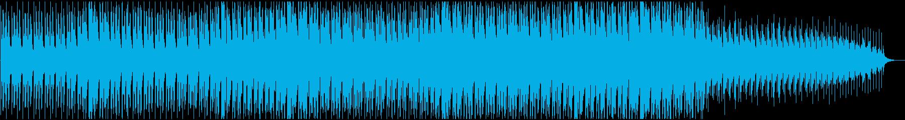 ニュース背後で流れるようなミニマルBGMの再生済みの波形
