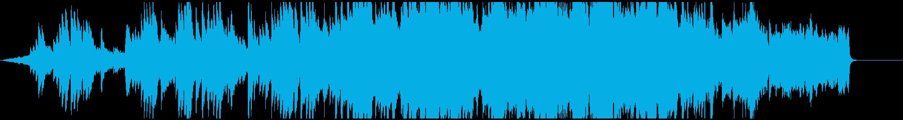 優しいピアノメロディのオーケストラ曲の再生済みの波形