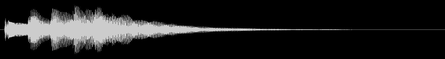 メッセージ表示・決定・着信音(明るい)の未再生の波形