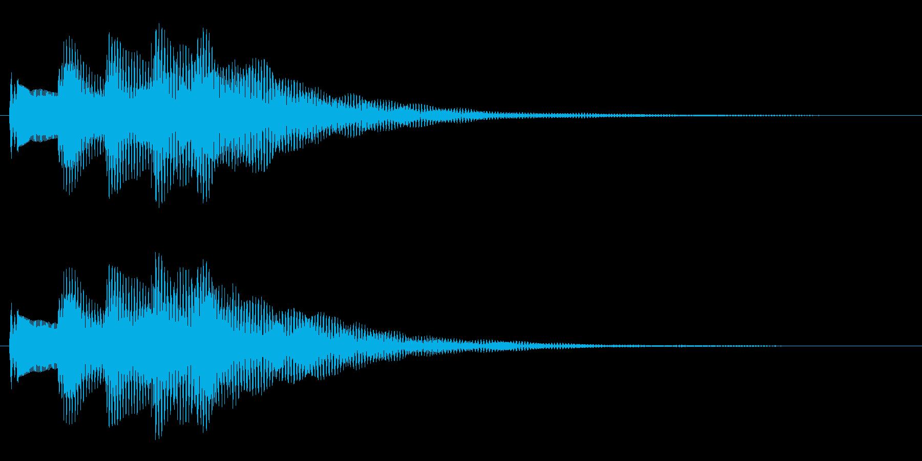 メッセージ表示・決定・着信音(明るい)の再生済みの波形