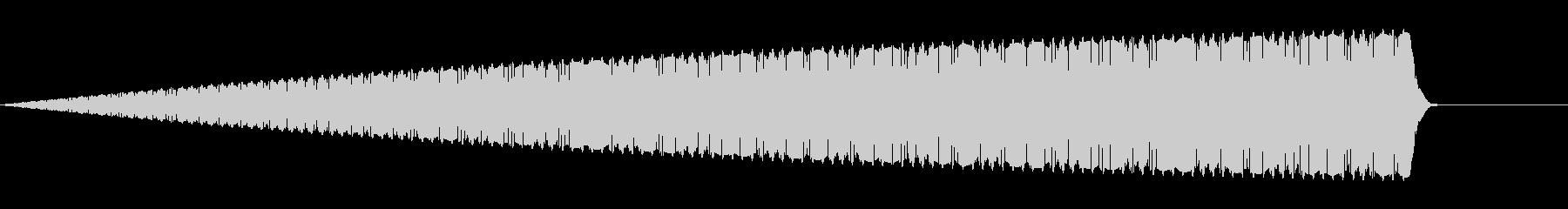 キーンというノイズ音の未再生の波形