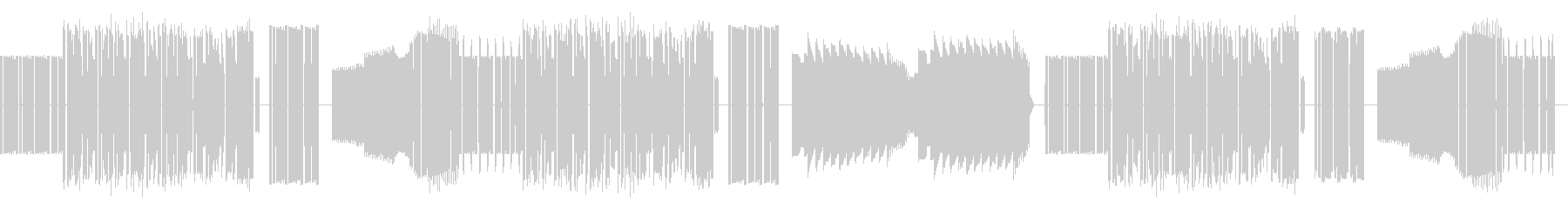 ファミコン音源による軽快な曲ですの未再生の波形