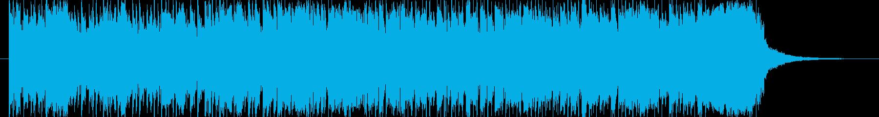 ギターとシンセのキラキラエレクトロニカの再生済みの波形