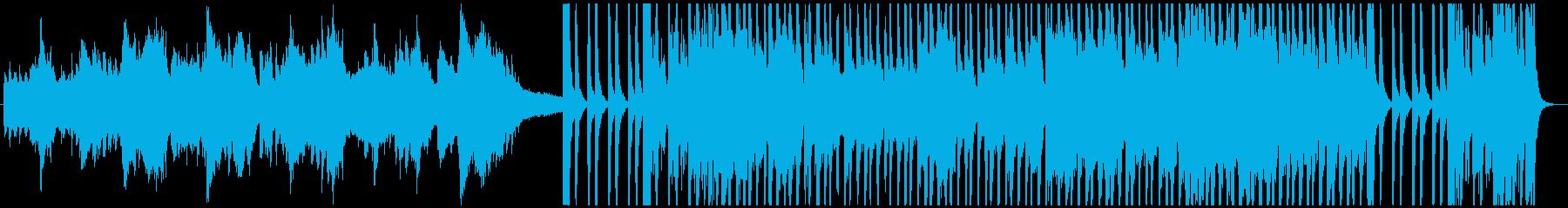 アコーディオンとバイオリンメインのタンゴの再生済みの波形
