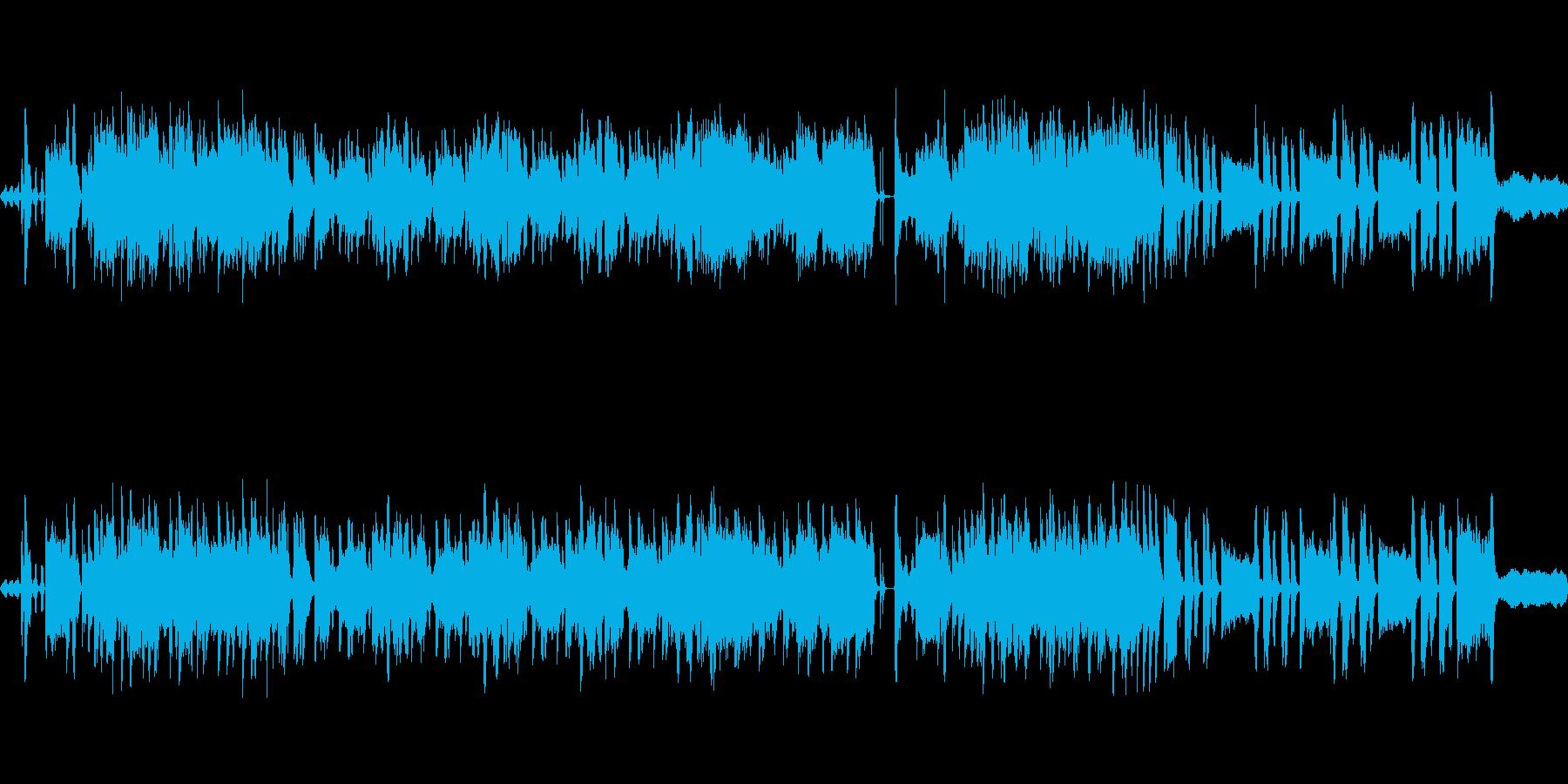 和風、琴 笛のオーケストラループ楽曲の再生済みの波形