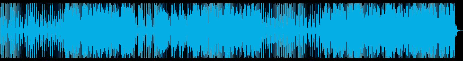 爽やかで浮遊感のあるハウス風BGMの再生済みの波形