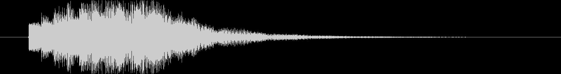 近未来的なステータスアップ効果音の未再生の波形