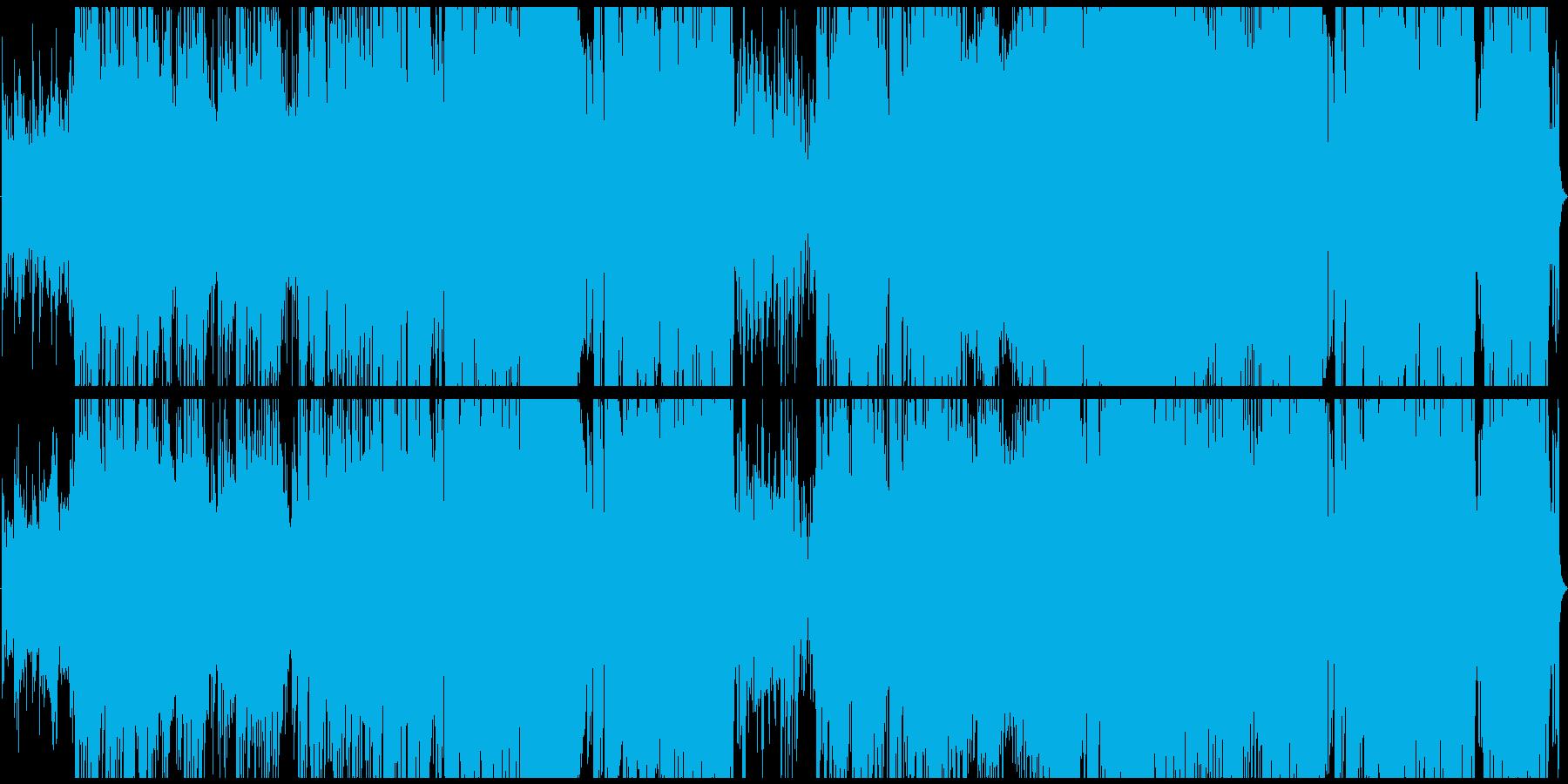 勢いのある電子音楽です。の再生済みの波形