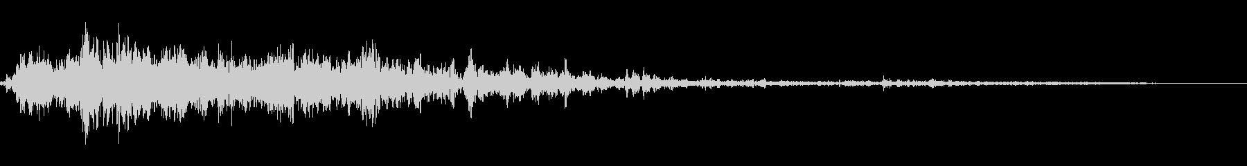 ゴロゴロゴロ(雷の音)生録音の未再生の波形