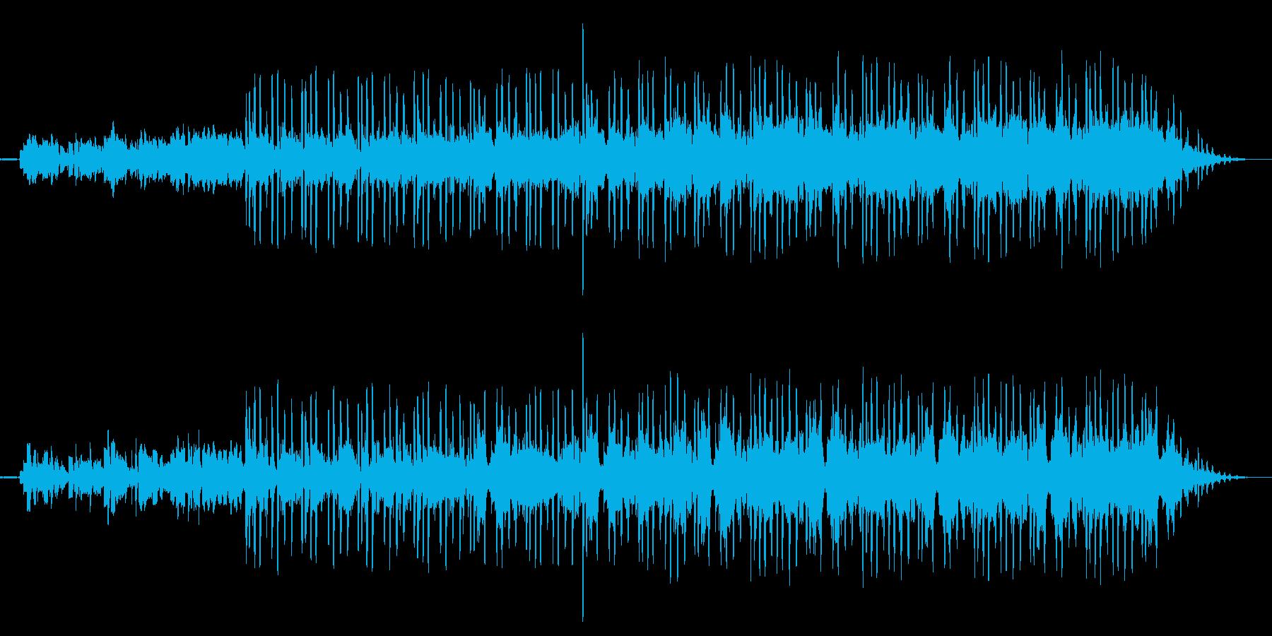 フィルターギターのシーケンスの再生済みの波形