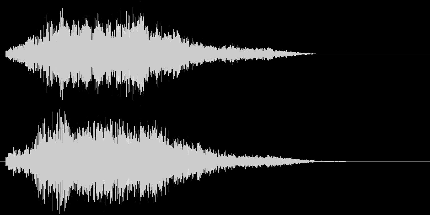 ピアノの旋律を加工したサウンドロゴの未再生の波形