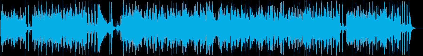 コミカルなインフォメーションミュージックの再生済みの波形