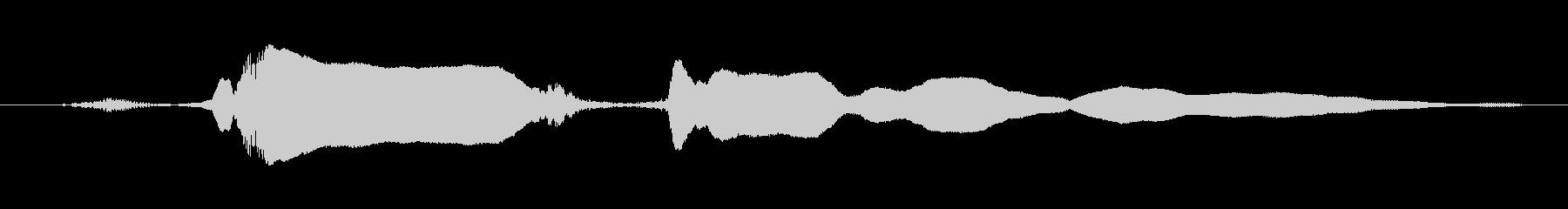 鳴き声 u湖オーバー興奮女性ロング01の未再生の波形