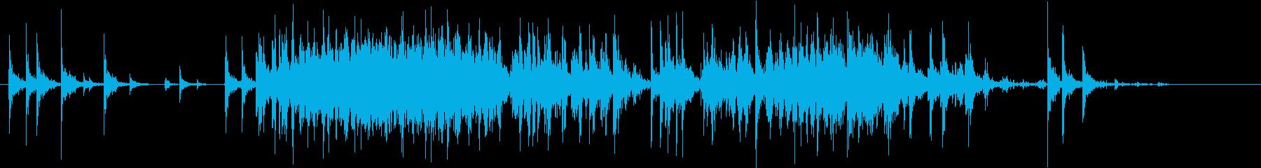 【生録音】米粒(生米)を取り出す音 4の再生済みの波形