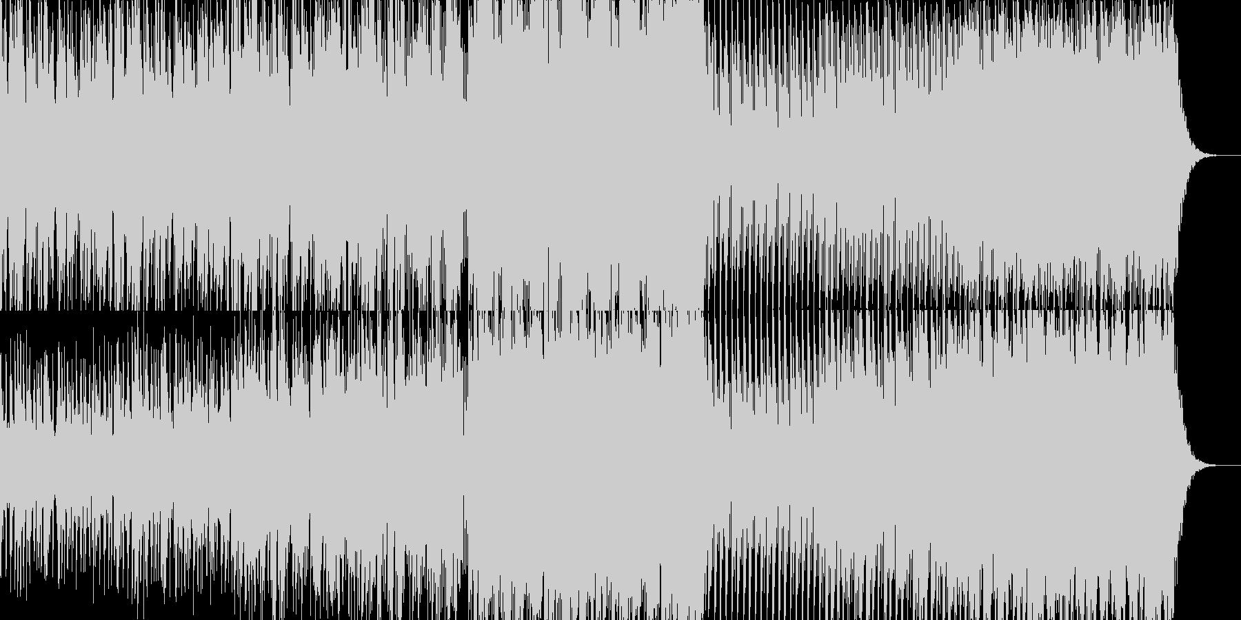 変拍子のきれいな音のテクノの未再生の波形