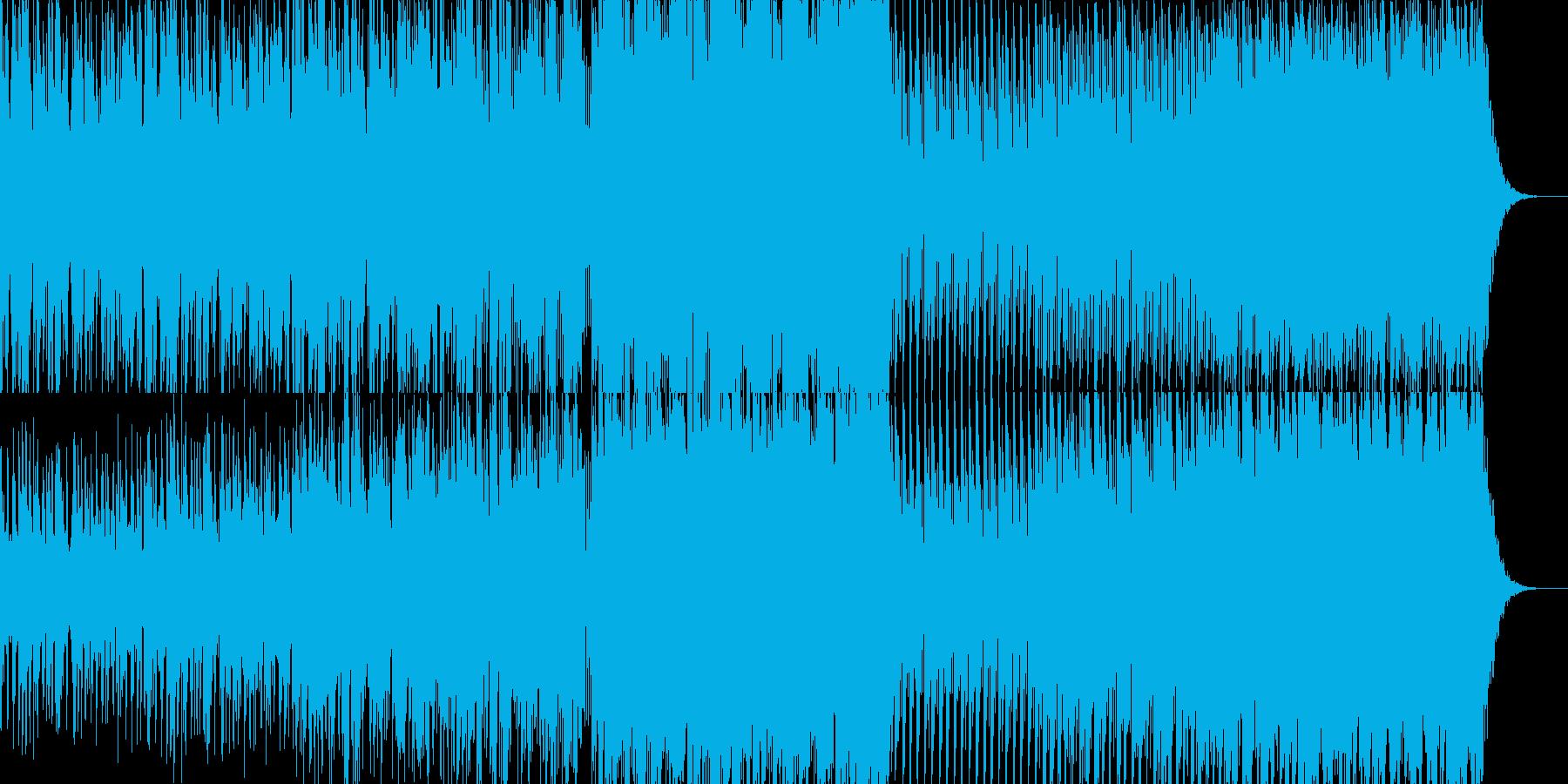 変拍子のきれいな音のテクノの再生済みの波形