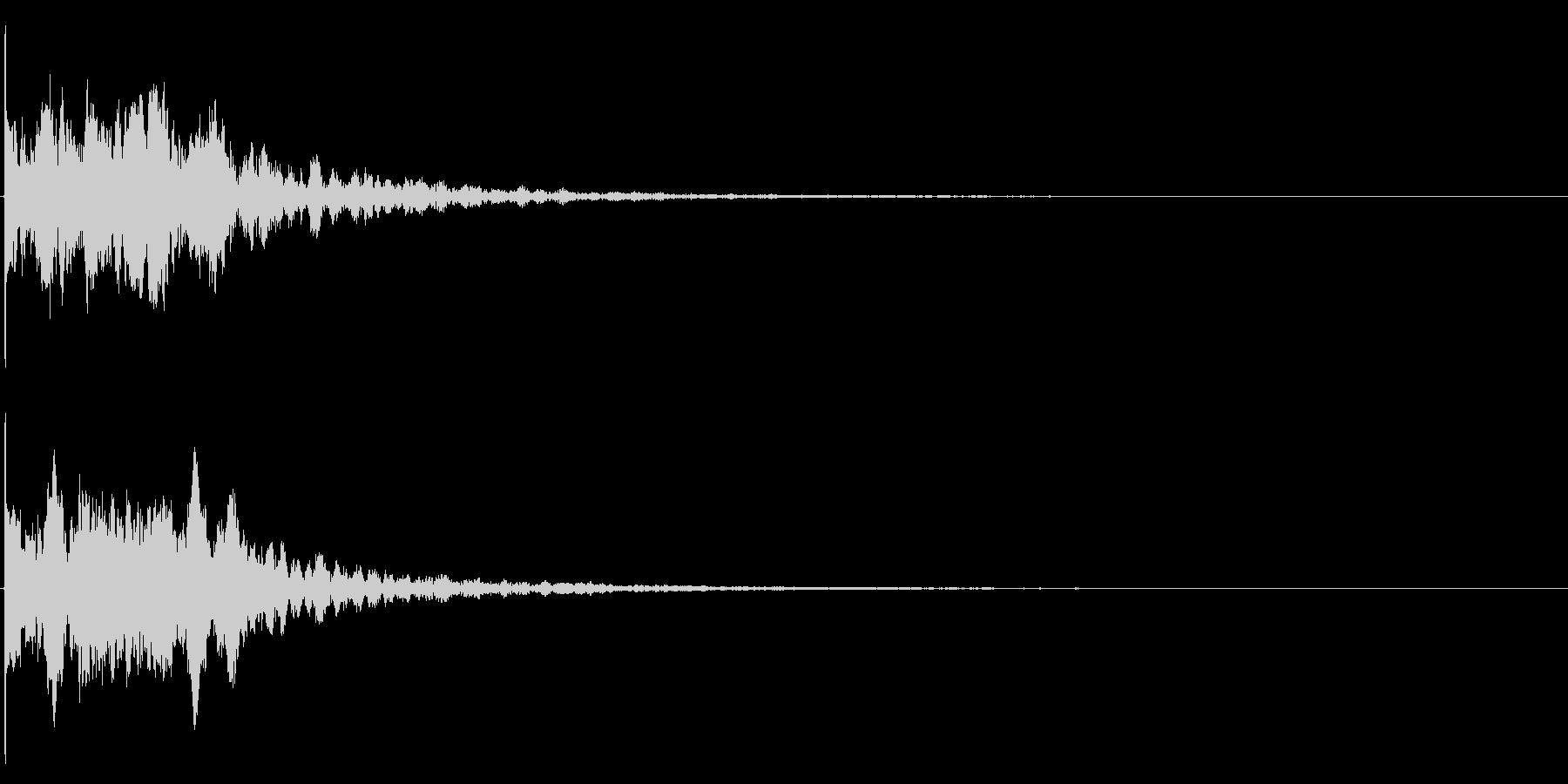 ゲームスタート、決定、ボタン音-158の未再生の波形