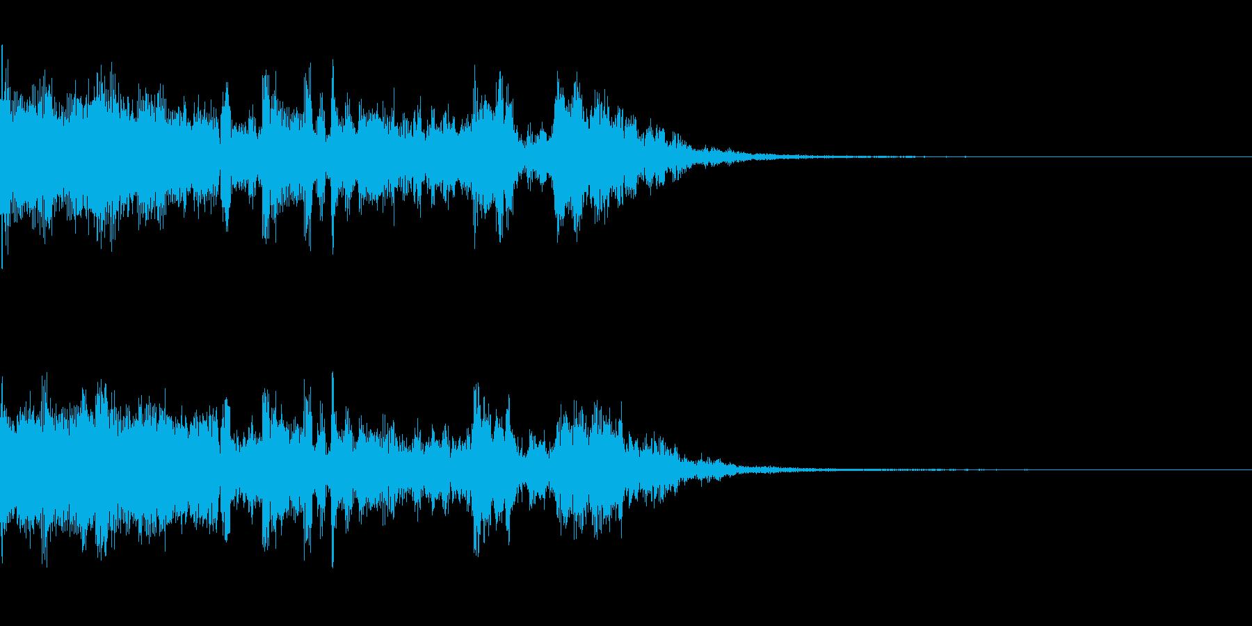 ボーカルも入ったジングルの再生済みの波形