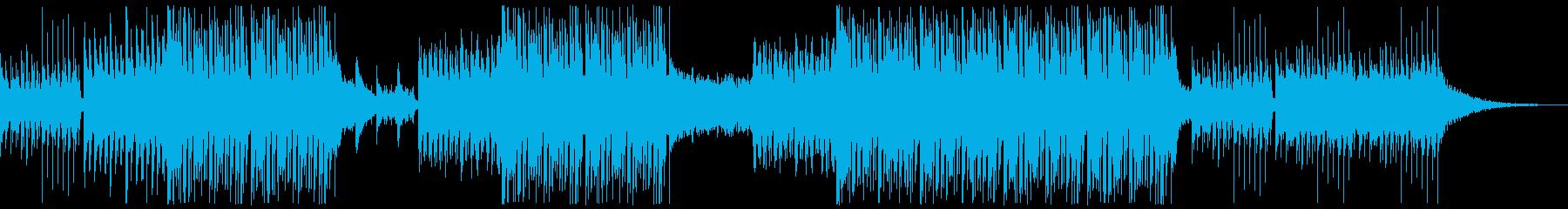 脈動するオーケストラトラックの再生済みの波形