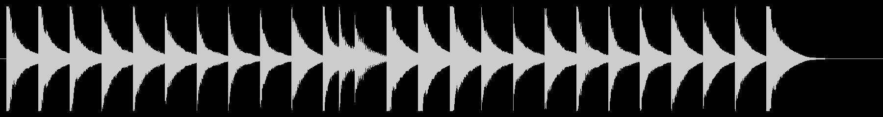 マリンバとグロッケンのシンプルなジングルの未再生の波形