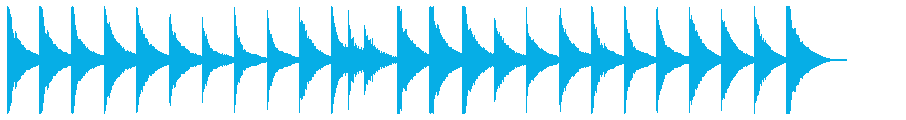 マリンバとグロッケンのシンプルなジングルの再生済みの波形