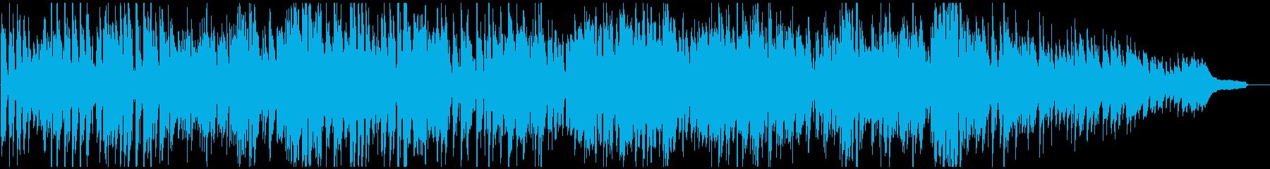 渋い悪役系の短調のハードボイルド・ジャズの再生済みの波形