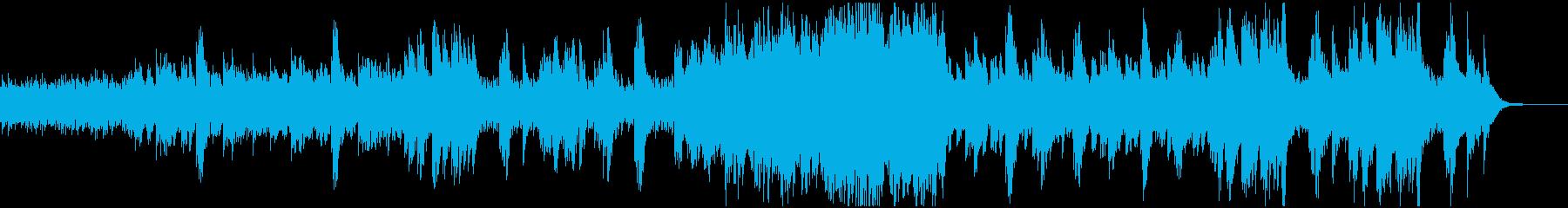 ピアノが幻想的なSF系BGMの再生済みの波形