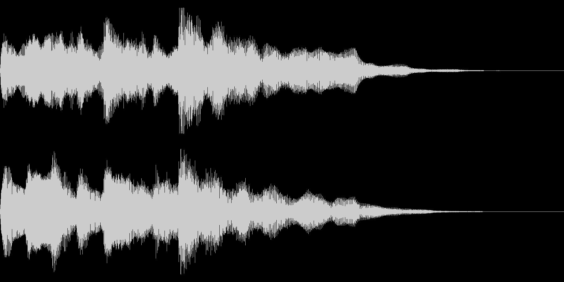 クリーンギターのフレーズ 場面転換の未再生の波形