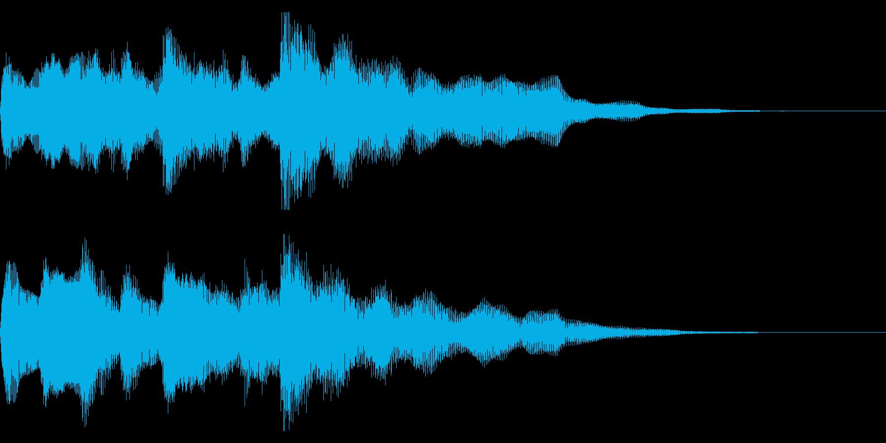 クリーンギターのフレーズ 場面転換の再生済みの波形