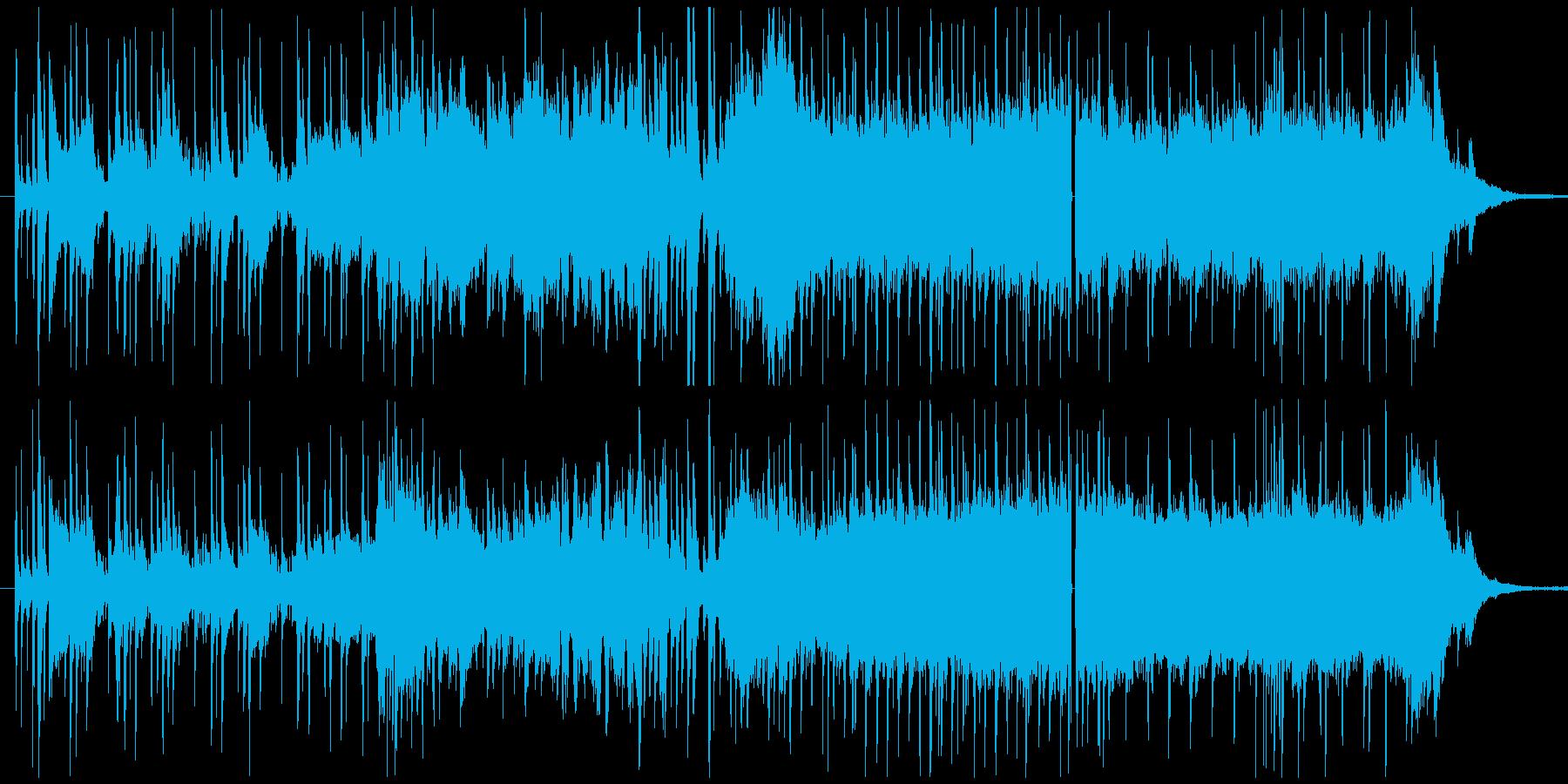 迫力があってにぎやかなメロディーの再生済みの波形