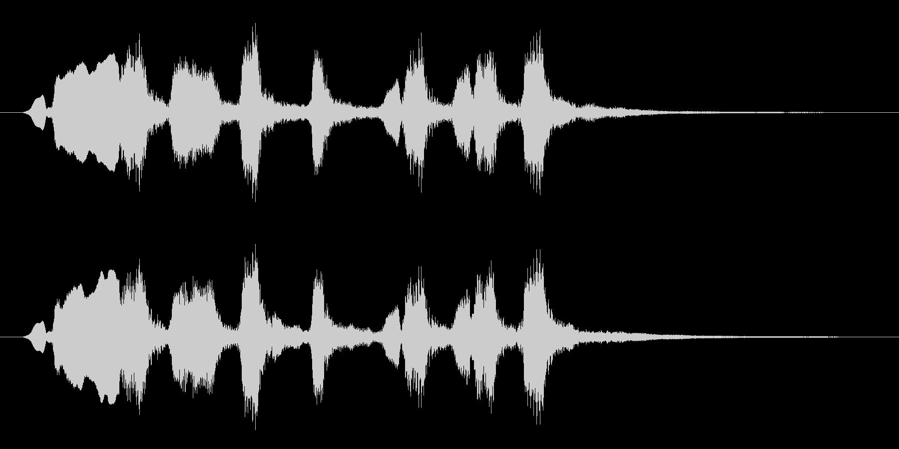 オーボエが印象的おどけた雰囲気のジングルの未再生の波形
