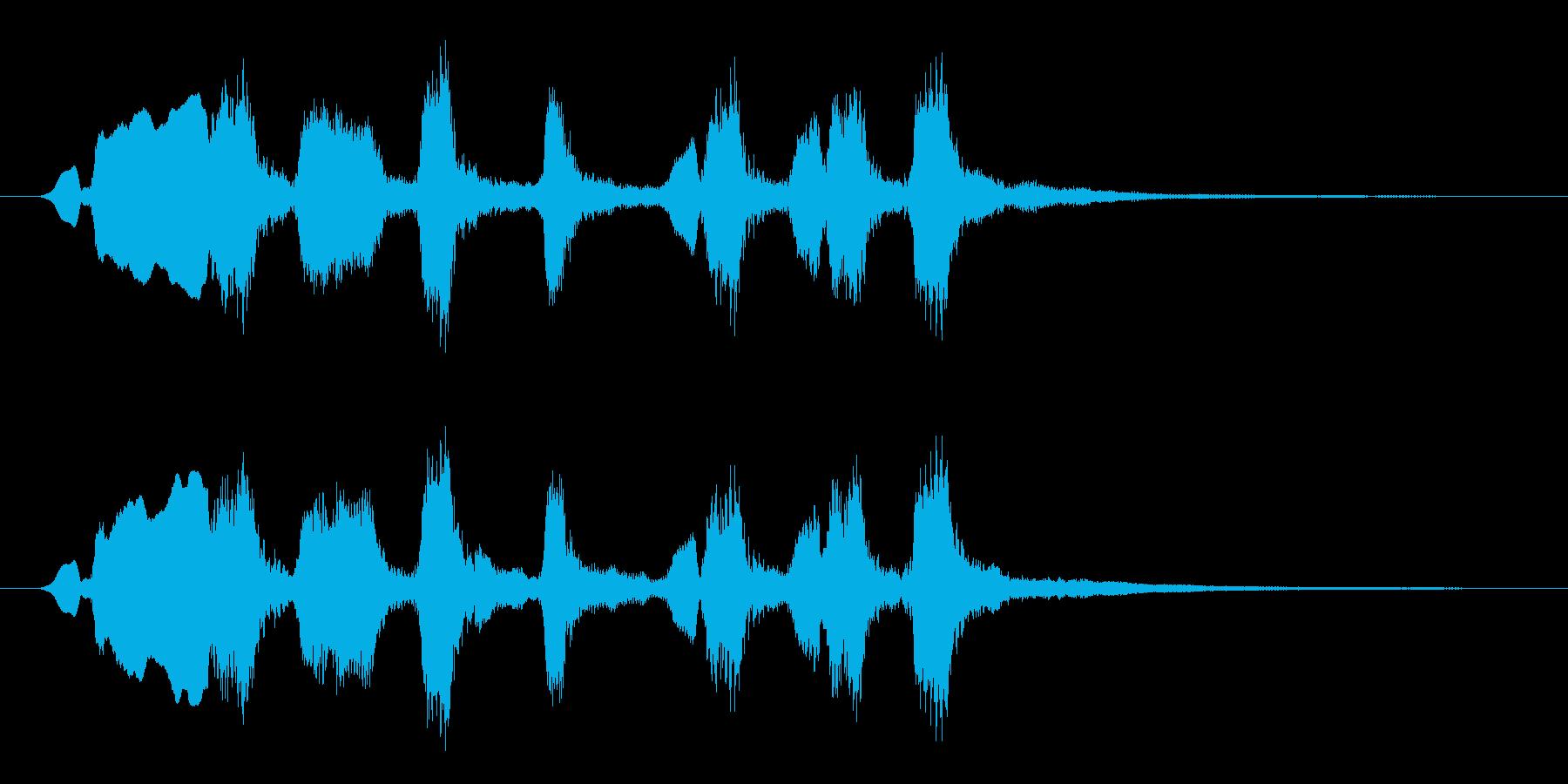 オーボエが印象的おどけた雰囲気のジングルの再生済みの波形