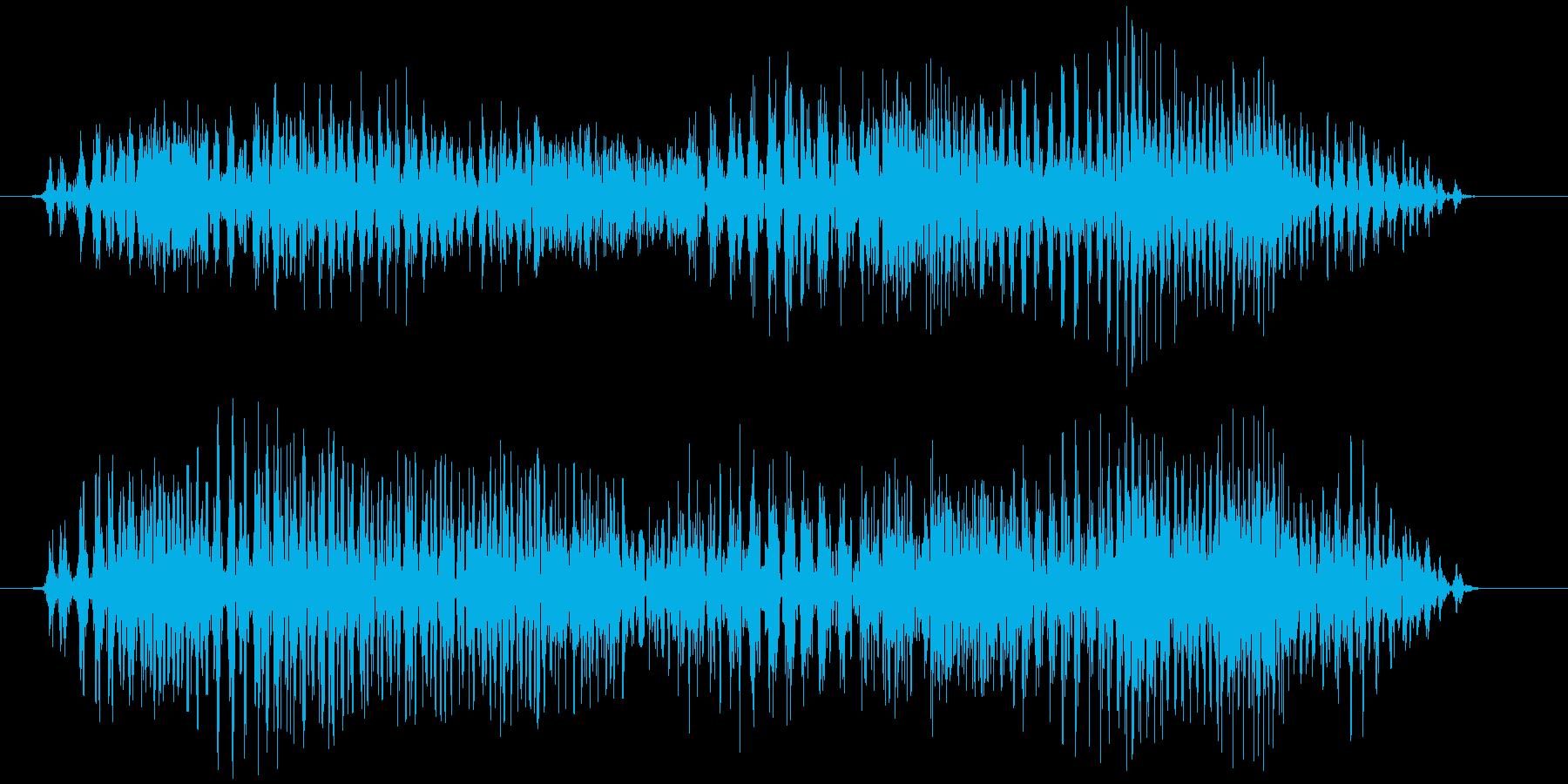 チャック、ジッパー(開閉音) ジィゥゥッの再生済みの波形