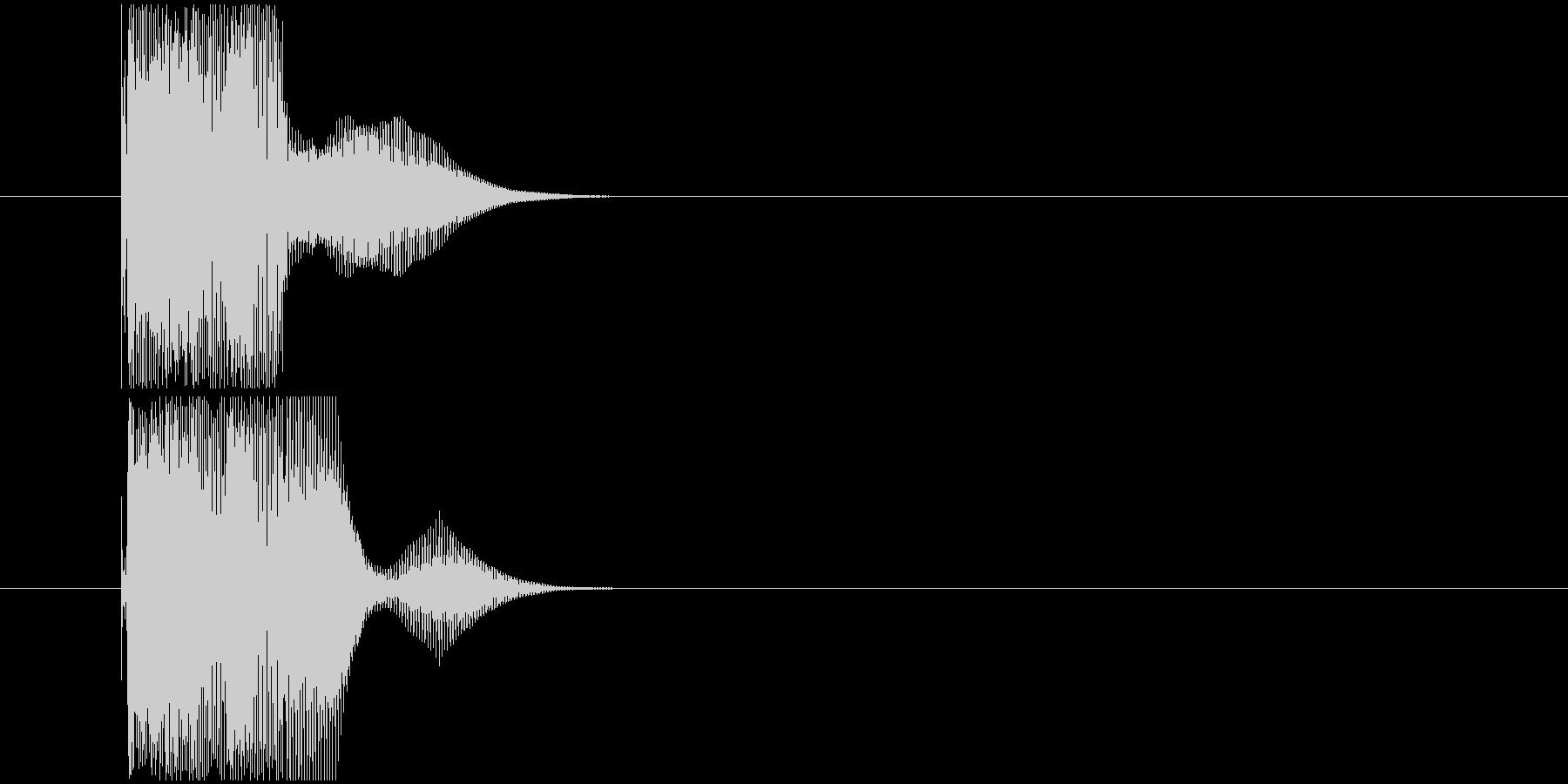 タイムカウント音の未再生の波形