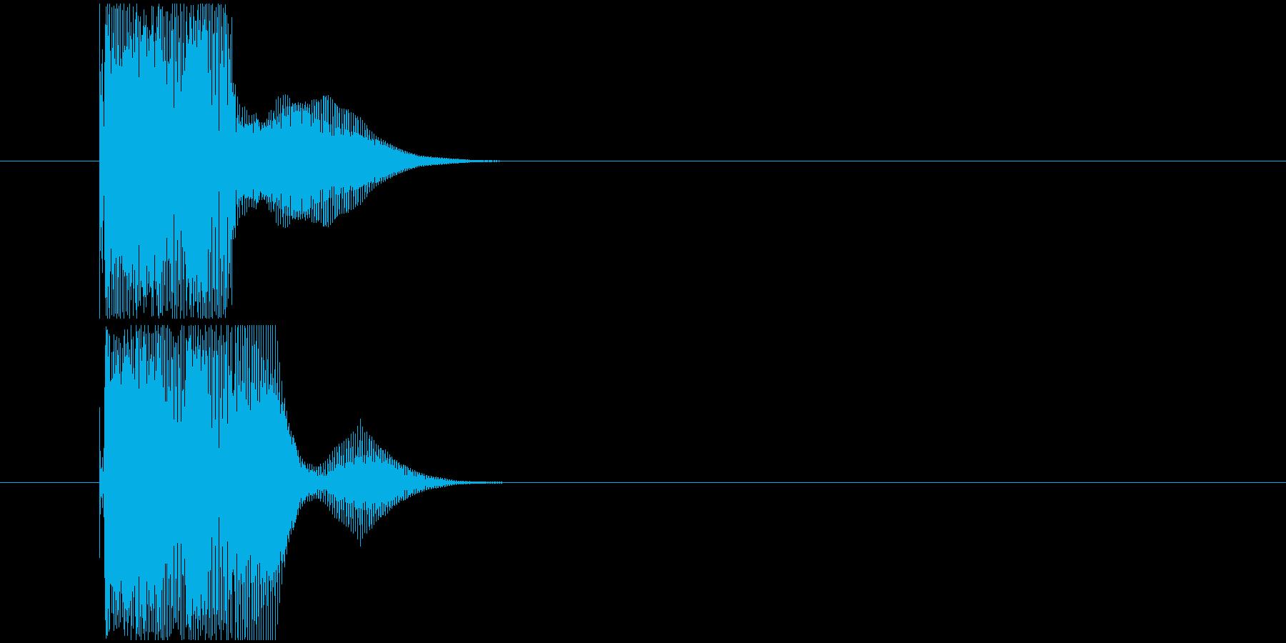 タイムカウント音の再生済みの波形