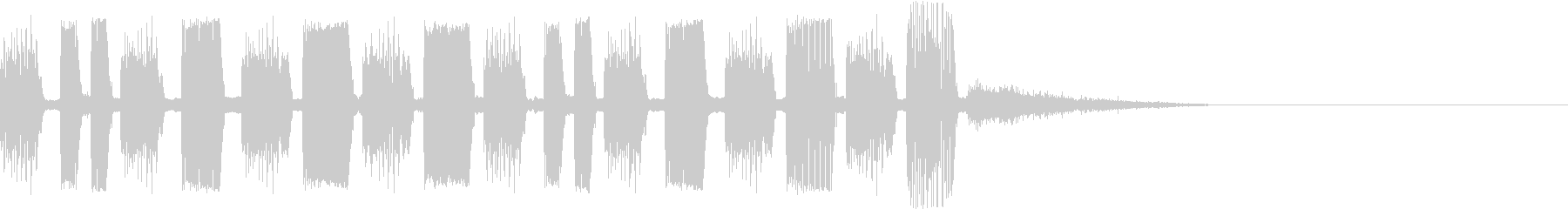 EDMジングルオーソドックスの未再生の波形