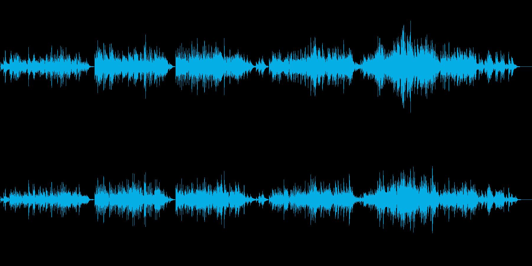 生ピアノソロ・肌寒い夜(ソフトピアノ)の再生済みの波形