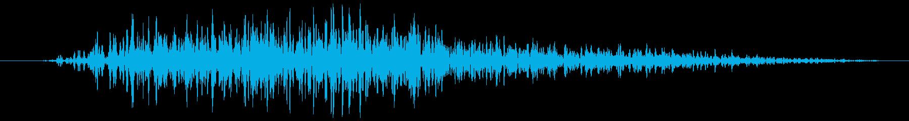 不協和音 風うねり 低い(ホラー)の再生済みの波形