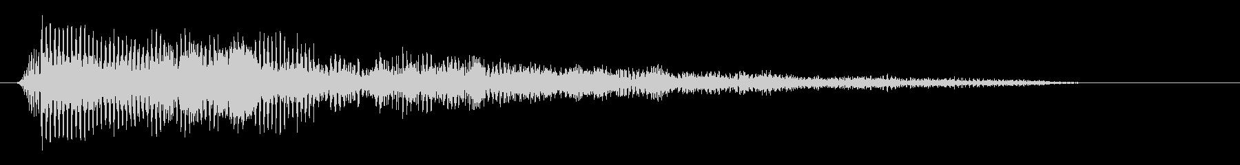パァッ(キレのいいクラクションの音)の未再生の波形