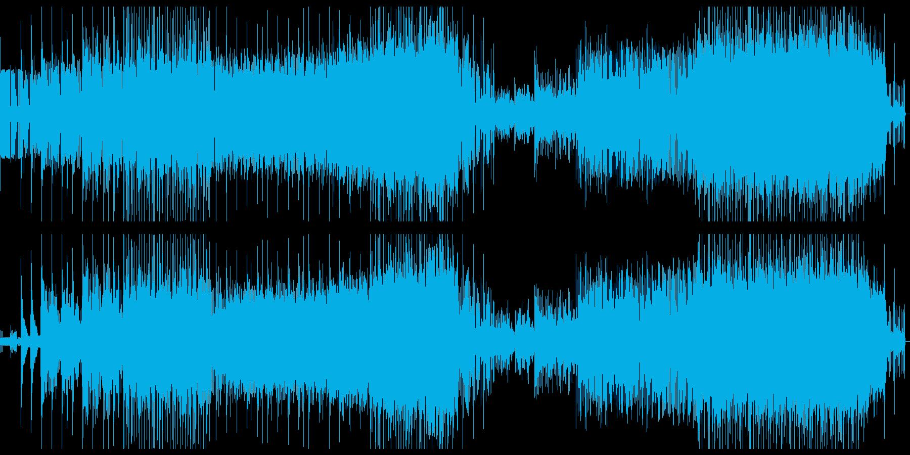 笛・太鼓・箏などのどっしりした和風楽曲の再生済みの波形