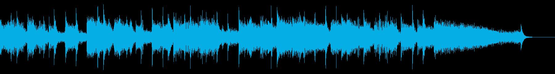 ジャズテイストのBGMの再生済みの波形