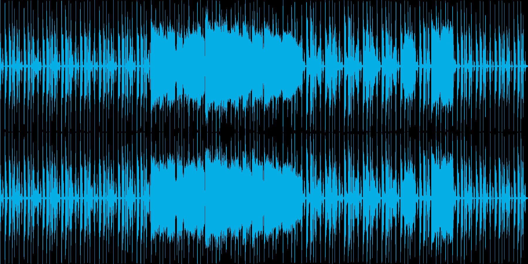おだやかな雰囲気、スローテンポの日常曲の再生済みの波形